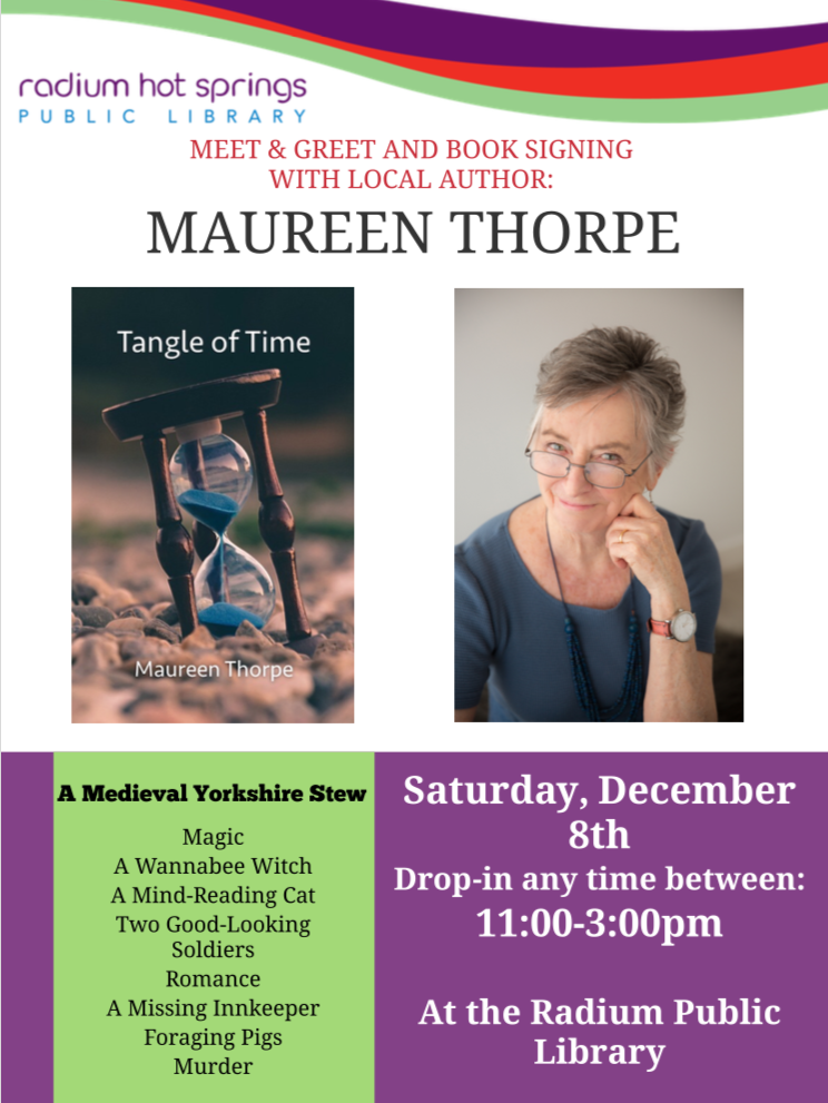 Meet & Greet and Book Signing with local author Maureen Thorpe @ Radium Hot Springs Public Library
