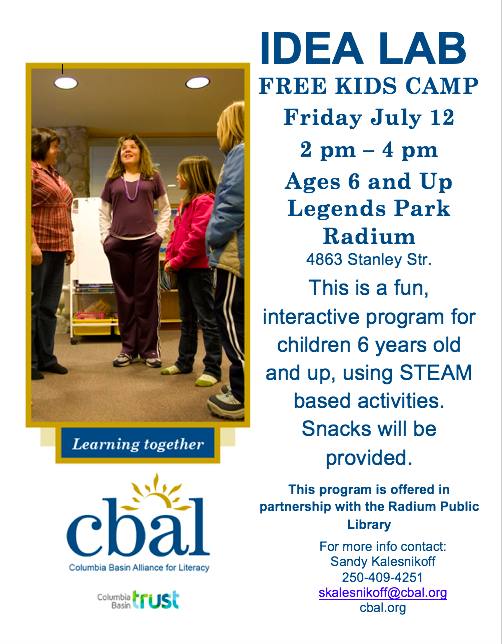 CBAL - Idea Lab Program @ Radium Hot Springs Public Library