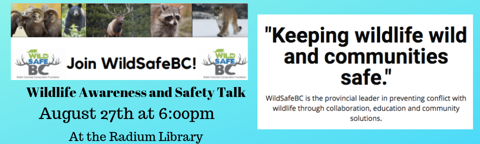 Wildlife Awareness and Safety Talk @ Radium Hot Springs Public Library
