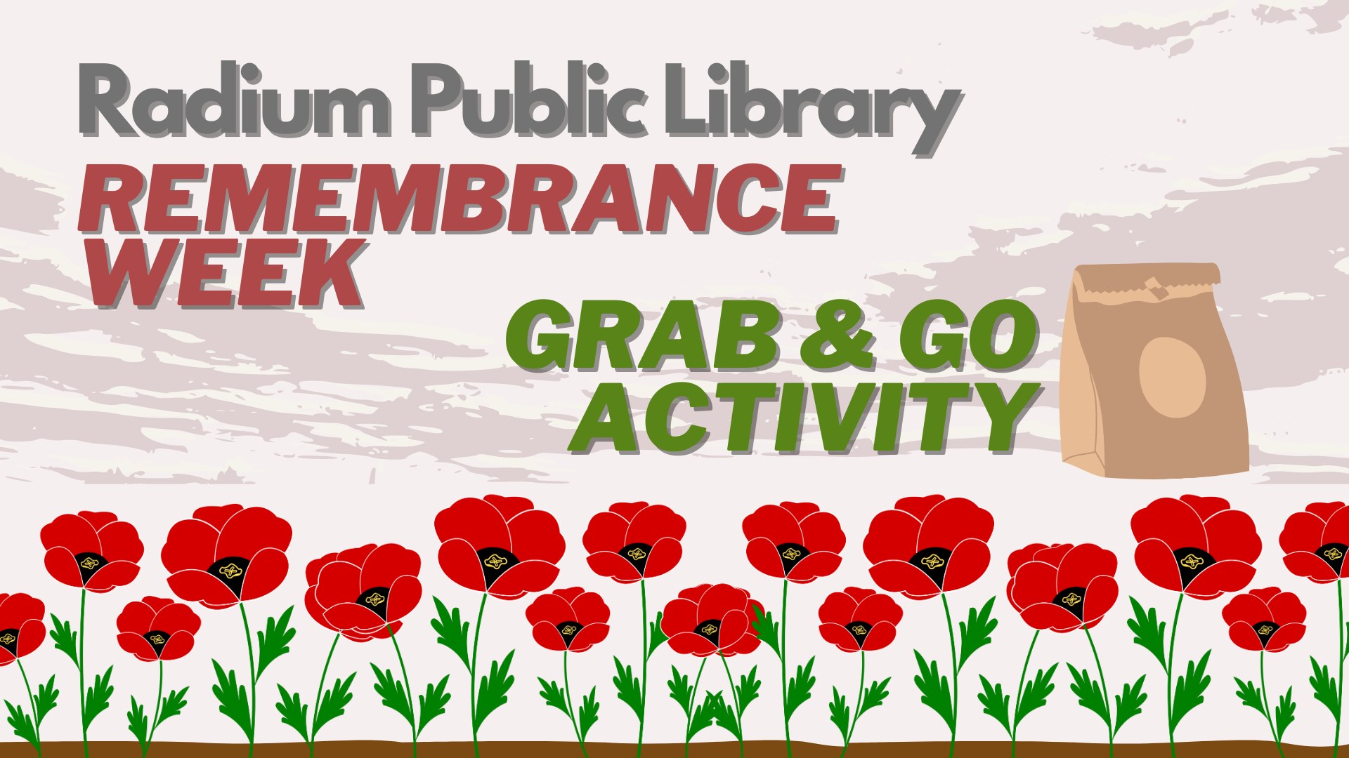 Remembrance Week Grab & Go Activity @ Radium Public Library