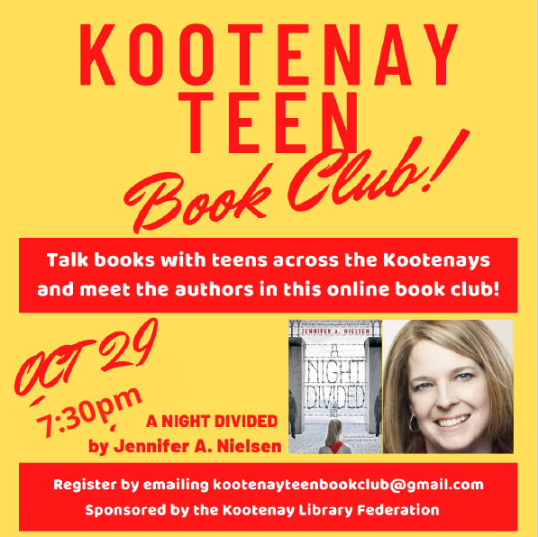 Kootenay Teen Virtual Book Club - A Night Divided by Jennifer A. Nielsen @ Zoom